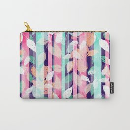 Cute Violet foliage brush paint design Carry-All Pouch