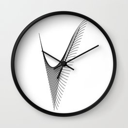 """""""Linear Collection"""" - Minimal Letter V Print Wall Clock"""