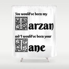 Tarzan & Jane Shower Curtain