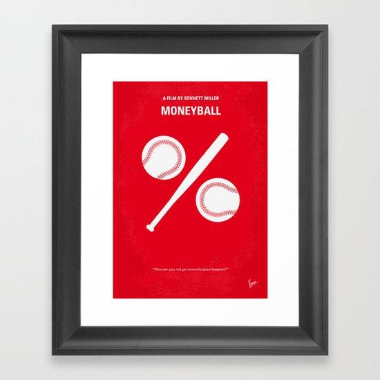 No191 My Moneyball minimal movie poster Framed Art Print