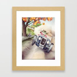 He was Toad once more - The Wind in the Willows - By Kenneth Grahame Framed Art Print