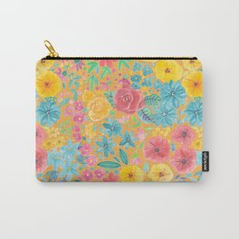 Floral watercolor pattern in yellow Carry-All Pouch