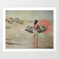 surfer Art Prints featuring Surfer  by Mary Kilbreath