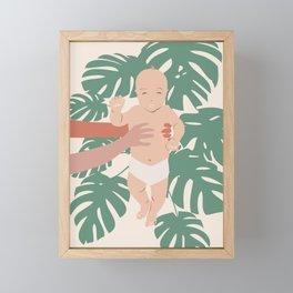 Baby Monstera Framed Mini Art Print