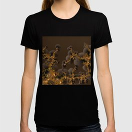 Organic Explosion of Chocolates - Fractal Golden Lava T-shirt
