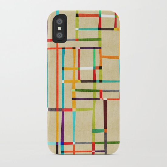The map (after Mondrian) iPhone Case