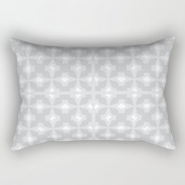 Abstract arrowhead light grey colour pattern  Rectangular Pillow