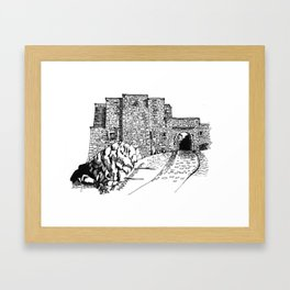 shadow at the top of the hill Framed Art Print