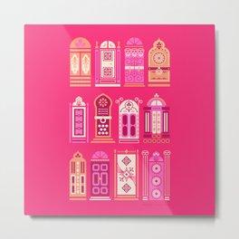 Moroccan Doors – Pink Palette Metal Print