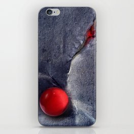 THE RED BALL iPhone Skin