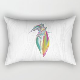 Kingfisher 1g. Full color on white background-(Red eyes series) Rectangular Pillow