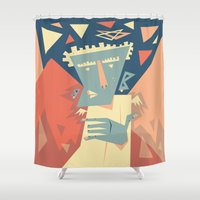 angel Shower Curtains featuring Angel by 5wingerone