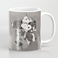 snoopy Mugs featuring Dogs by Ronan Lynam