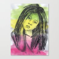 marley Canvas Prints featuring Marley by Katy Kaydash