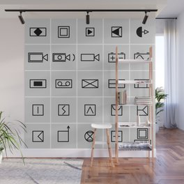 icons electrical symbols Wall Mural