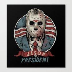 Jason For President Canvas Print