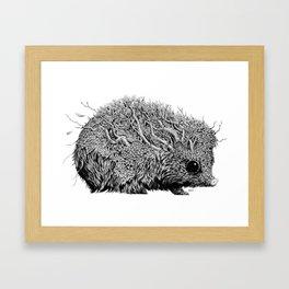 Leaf Hedgehog Framed Art Print
