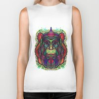 psychedelic Biker Tanks featuring Psychedelic by Milena Taranu