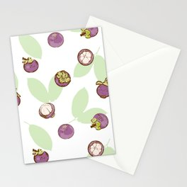 Mangosteen on white background Stationery Cards