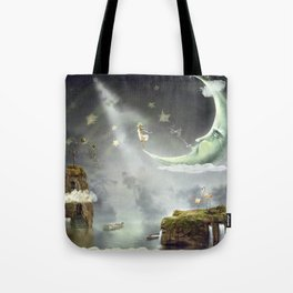 Night. Time of miracles and magic Tote Bag