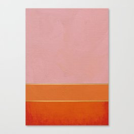 Orange, Pink And Gold Abstract Painting Canvas Print