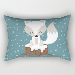 WINTERLAND FOX Rectangular Pillow