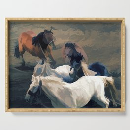 Breaking Away   -  Wild Horses Serving Tray