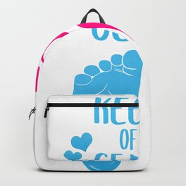 Keeper Of The Gender Reveal Party Pregnancy Backpack