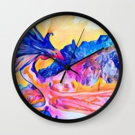 dragon benefico Wall Clock