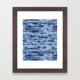 Stratus Denim Framed Art Print
