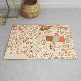 NEW ORLEANS LOUISIANA CITY MAP EARTH TONES Rug