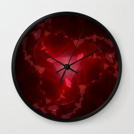 Blood Jewel Wall Clock