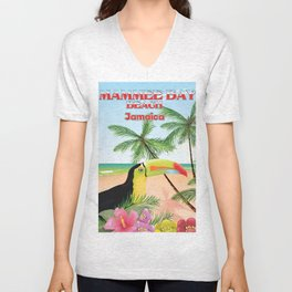 Mammee Bay Beach jamaica Unisex V-Neck