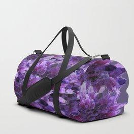 CLUSTERS PURPLE QUARTZ CRYSTALS Duffle Bag
