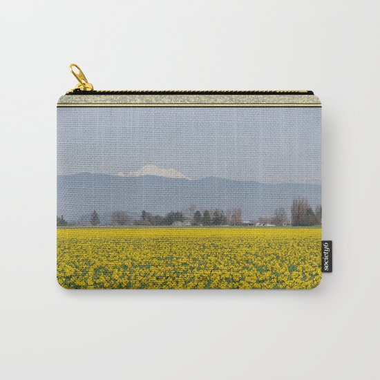 DAFFODIL FIELD AND MOUNT BAKER IN THE SKAGIT VALLEY  Carry-All Pouch