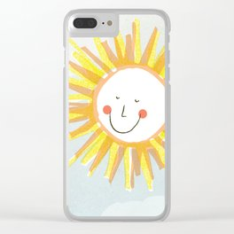 Happy Sun Clear iPhone Case