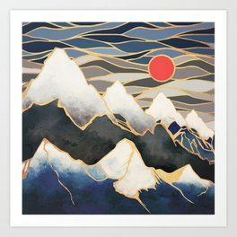 Ice Mountains Art Print
