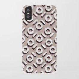 Beige Keyhole Pattern iPhone Case