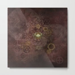 Steampunk Zodiac Cancer Metal Print