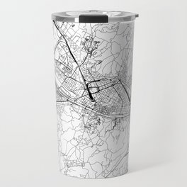 Florence White Map Travel Mug