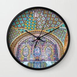 Karim Khani Nook of Golestan in Tehran, Iran Wall Clock