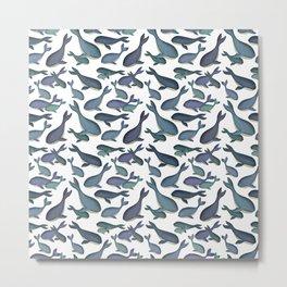 Cute Little Whale Print Metal Print