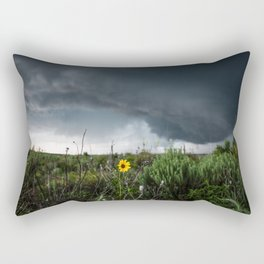 Stormflower - Sunflower and Storm in Texas Rectangular Pillow
