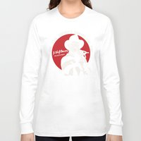 freddy krueger Long Sleeve T-shirts featuring Freddy K quote v2 by Buby87