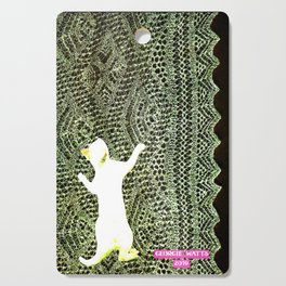 Climbing the Net handcut collage Cutting Board