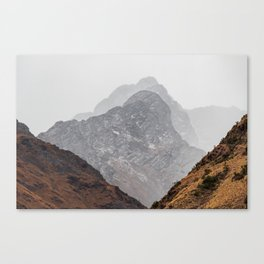 Layered Mountains of Salkentay Pass Canvas Print