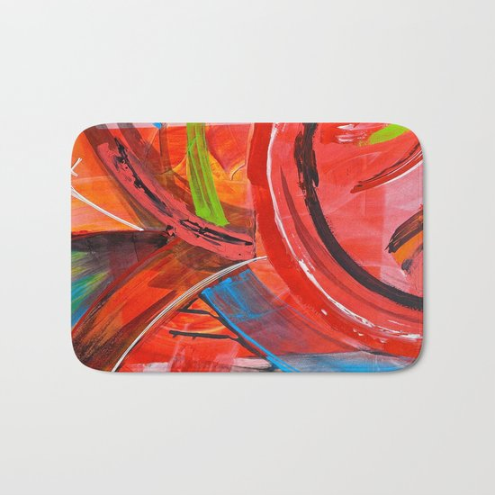 IBIZA - colorful abstract painting Bath Mat