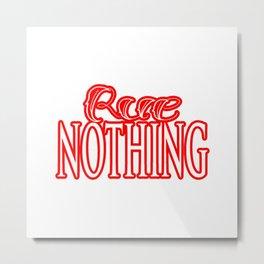Rue Nothing Red Logo Metal Print