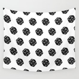 20 Sided Spindown Pattern Wall Tapestry