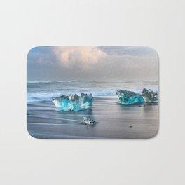 """Diamonds Are Forever"" - Diamond Beach, Iceland Bath Mat"